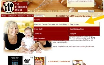 screen shot new site Our New Website Design Makes Cookbooking Even More Fun
