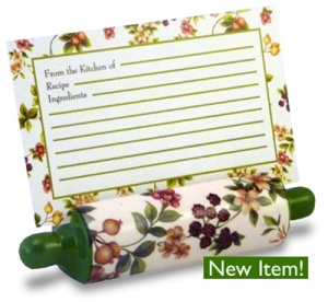 recipe card holder NEW ITEM: Ceramic Recipe Card Holders