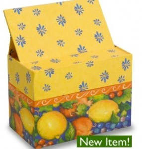 pretty recipe box CalabrianFruit recipe box 286x300 Pretty New Recipe Card Boxes & Recipe Card Tins!