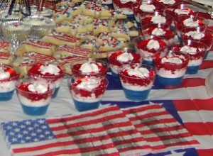 Table refreshments2 300x220 A Trifle Easy Dessert for Fourth of July