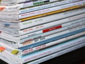 stack of magazines 300x200 Top 3 Ways to Bind Recipe Books
