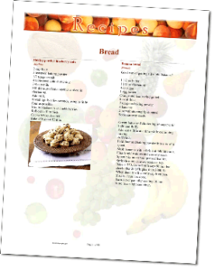 FruitRec 238x300 Recipe Templates Make Cookbook Making Easy