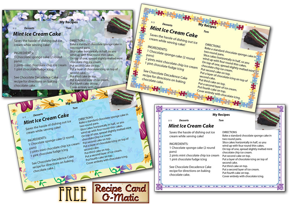 Recipe card o matic samples Recipe Cards: An Overview