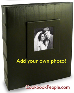 Add photo to wedding recipe binder