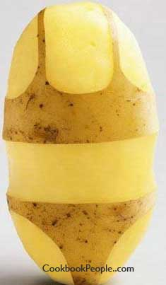 naked spud Easy way to make a naked potato
