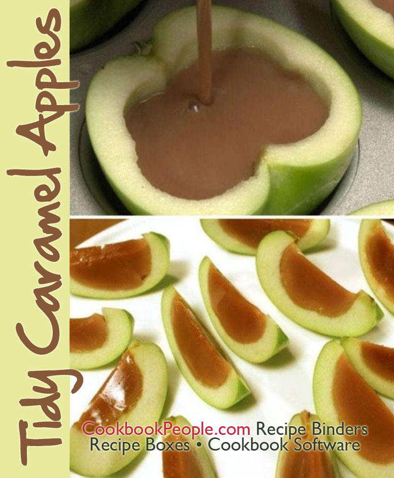 caramel apples Tidy Caramel Apples