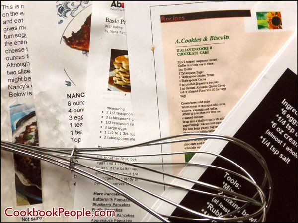 Organize Printed Recipes into Family Cookbook