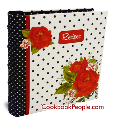 Dotted Cottage Rose Recipe Binder