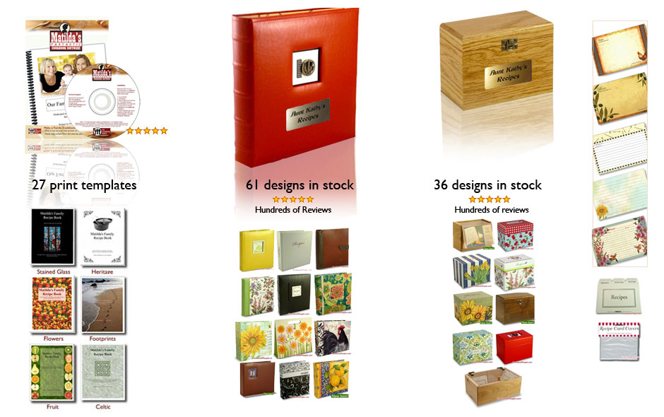 Cookbook Software Binders Boxesa And Cards