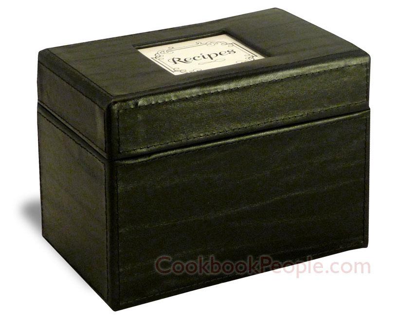 Leather recipe box