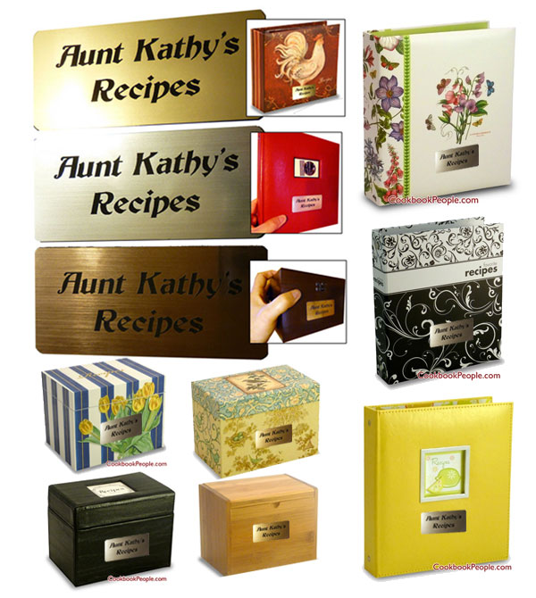 personalize recipe box or binder