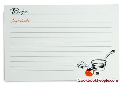5x7 Recipe Card Template. recipe binder etsy. recipe card dividers ...