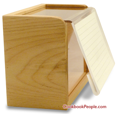 Recipe Box with Card Holder