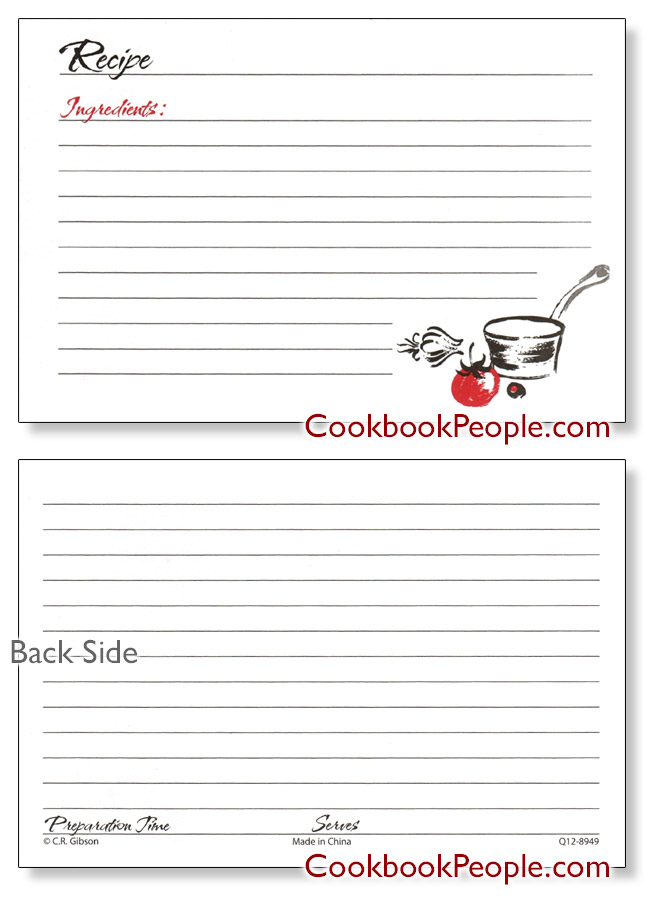 A La Carte Recipe Cards