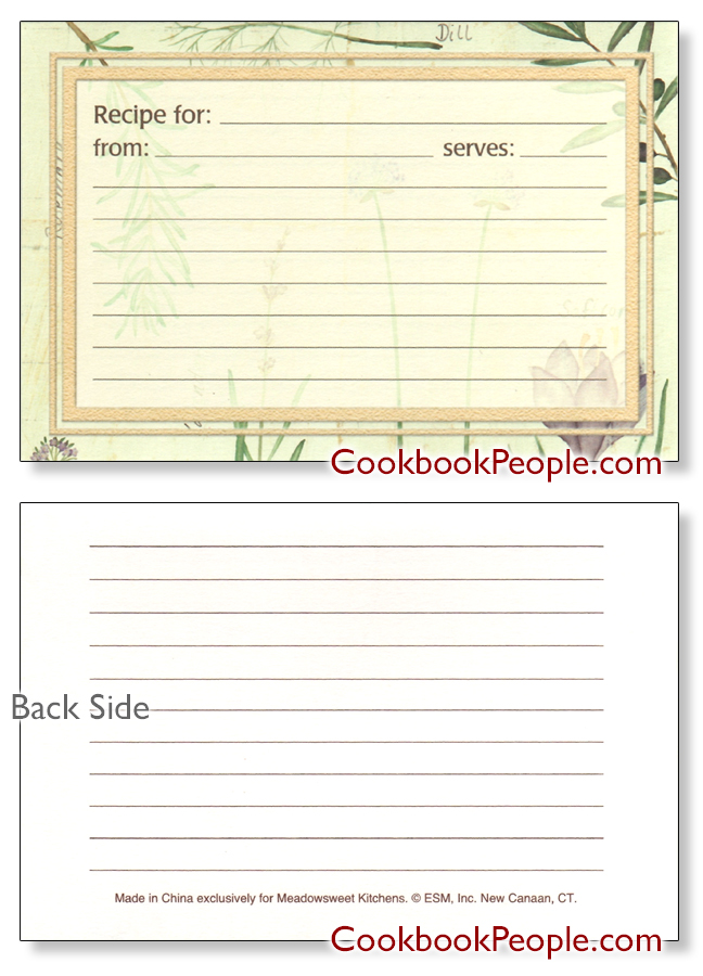 Herb Recipe Cards