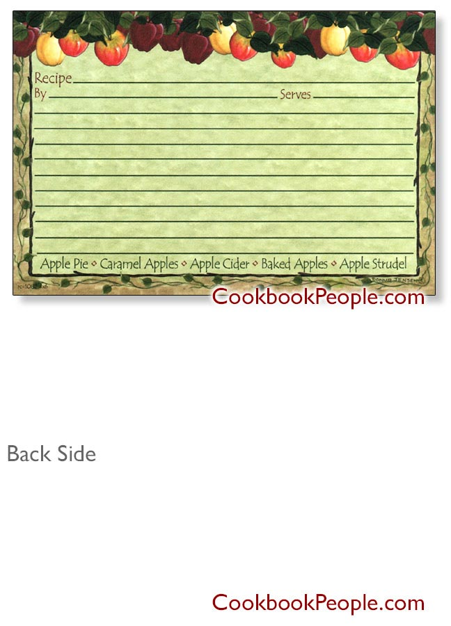 Recipe Cards Apple Cider