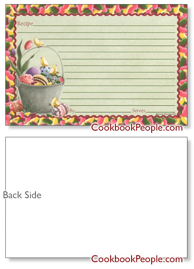 Easter Recipe Cards