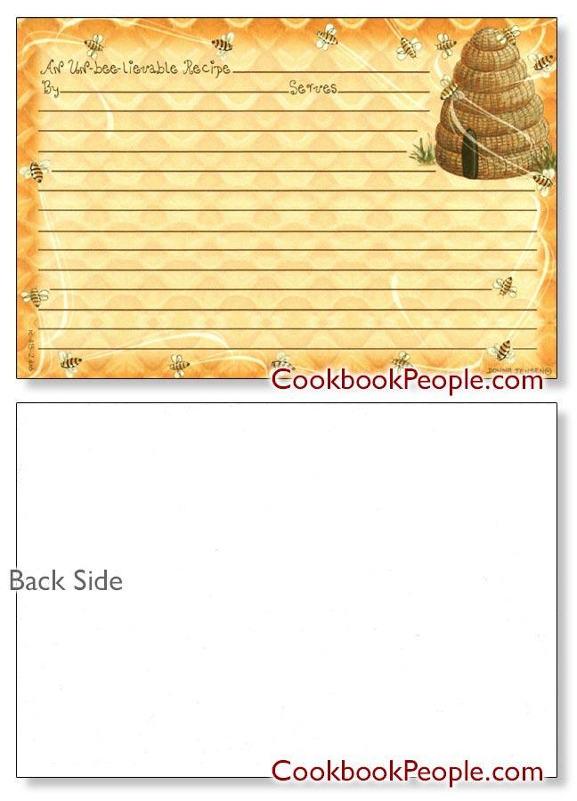 Beehive Recipe Card