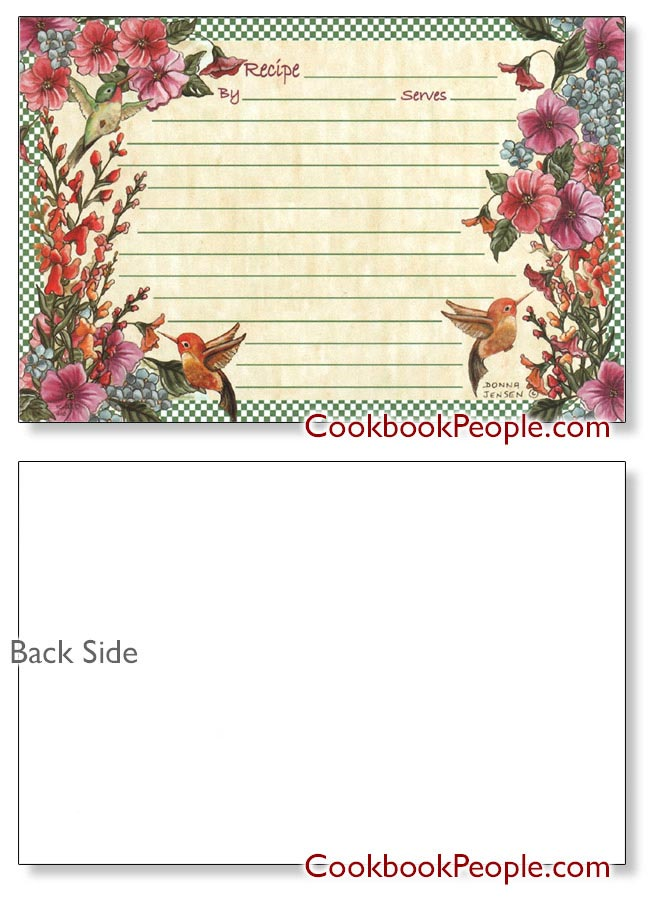 Hummingbirds Recipe Cards