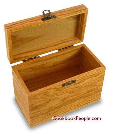 Recipe Cards And Box Recipe Card Box Oak