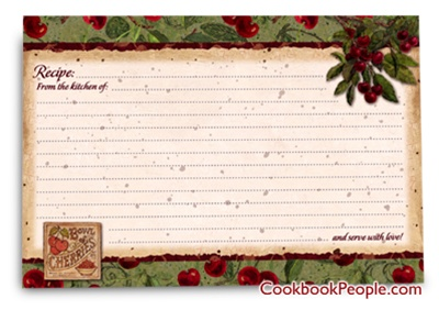 Bruges RecipeCard 4X6VgeCherry 2 Cherry Pie Idea